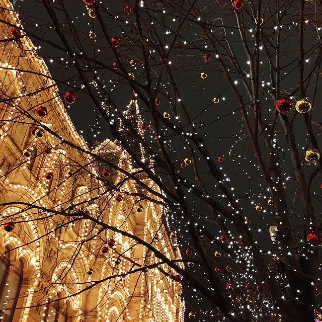 Новогодняя Красная площадь в Москве