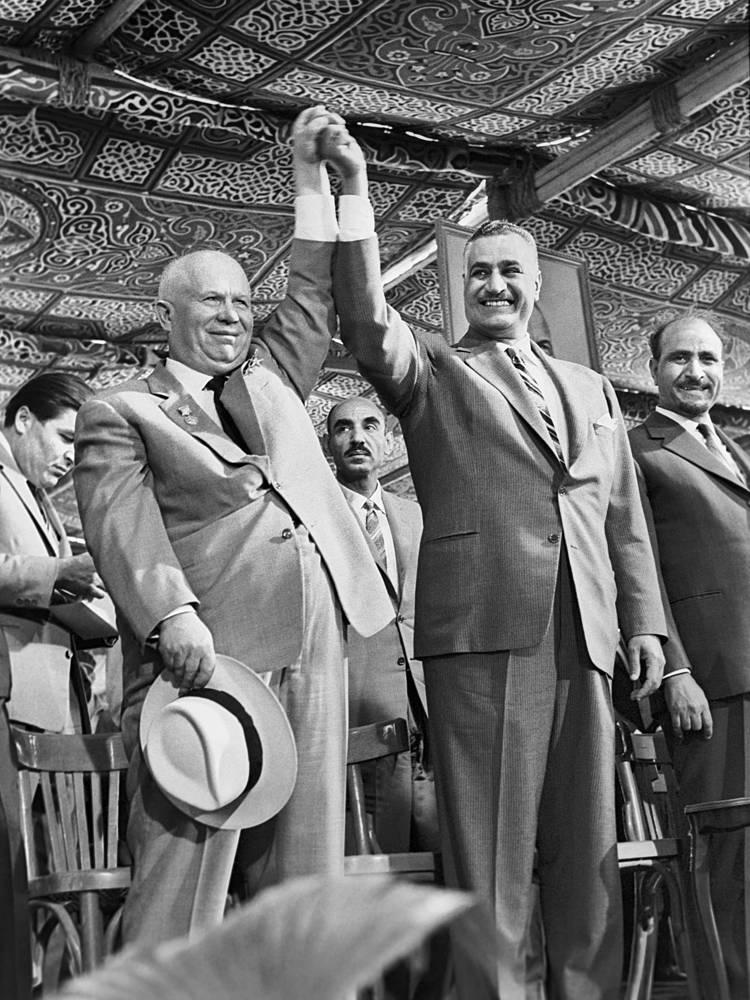 Хрущев и Насер, 1964 год