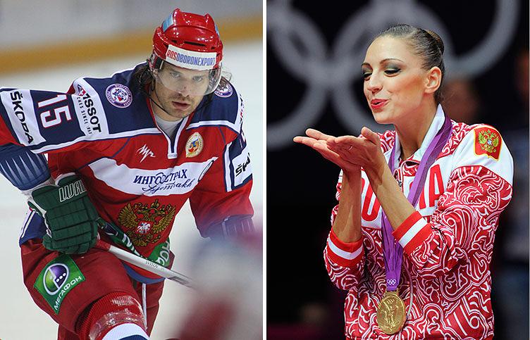 Российская гимнастка, двукратная олимпийская чемпионка по художественной гимнастике 2008 и 2012 годов Евгения Канаева замужем за хоккеистом Игорем Мусатовым. Нападающий сделал предложение спортсменке после окончания Олимпийских игр в Лондоне