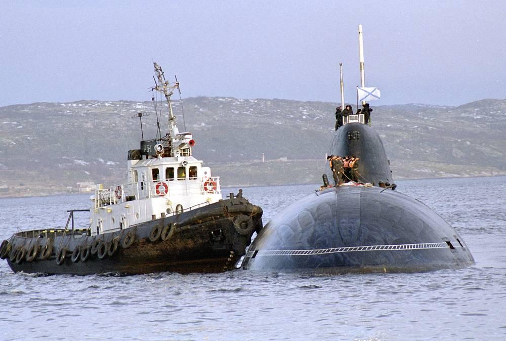 """Многоцелевая атомная субмарина проекта 971. На фото - подлодка из состава Северного флота К-157 """"Вепрь"""""""