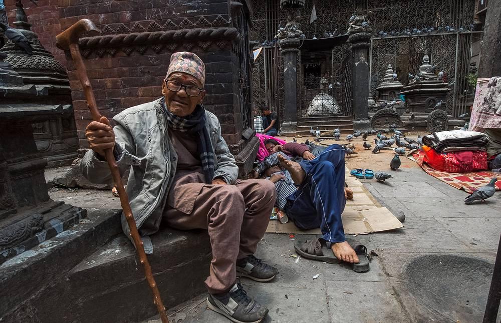 """""""Голубиный храм"""" в исторической части Катманду"""