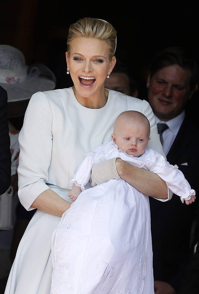 Шарлен Уиттсток с дочерью принцессой Габриэллой