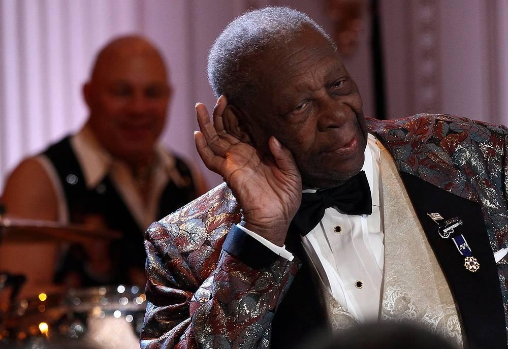 Легендарный музыкант на вечере блюза в Белом доме, организованном в рамках месяца истории чернокожего населения США, 2012 год
