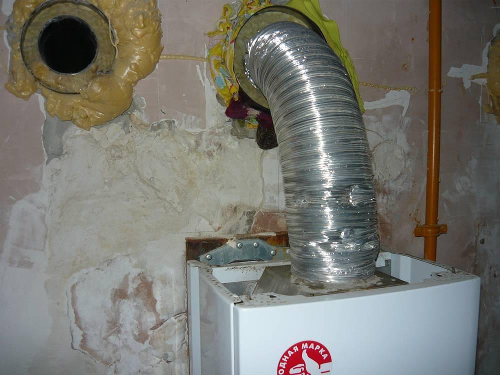 Труба дымохода газового котла в доме уральского священника, где погибли дети