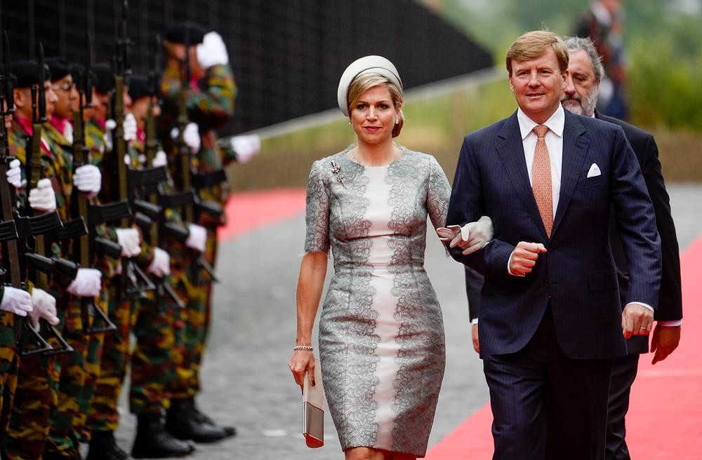 Король Нидерландов Виллем-Александер с супругой королевой Максимой