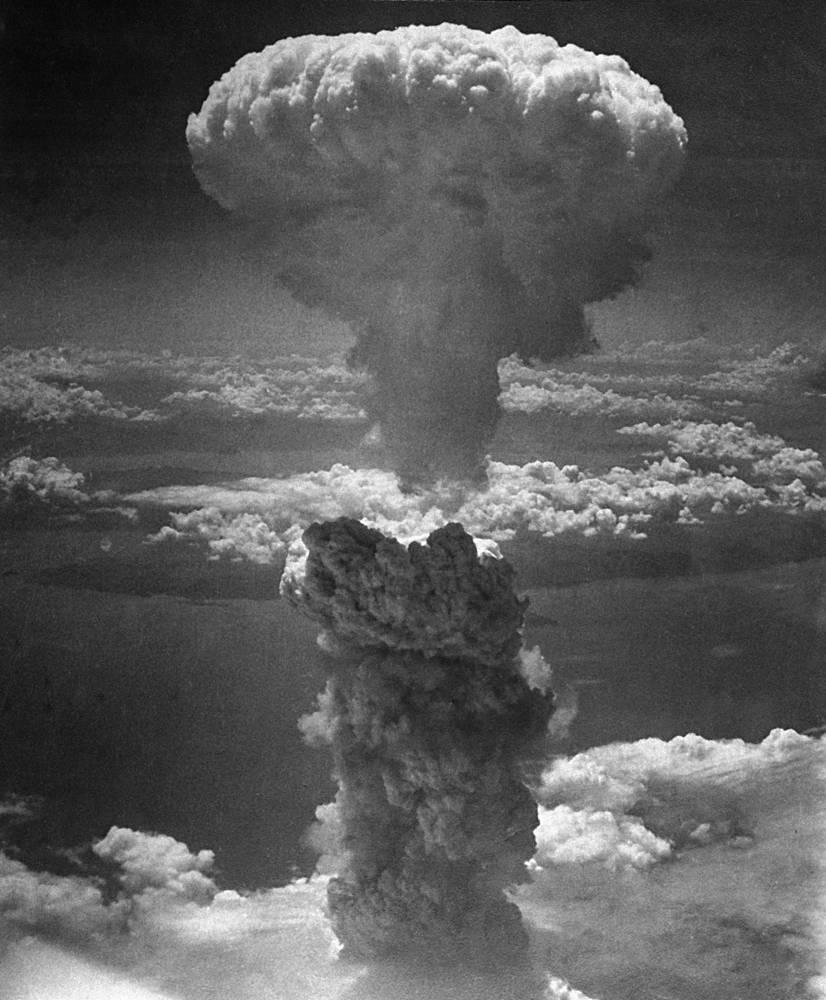 Взрыв над Нагасаки затронул район площадью примерно 110 квадратных км, из которых 22 приходится на водную поверхность и 84 были заселены только частично