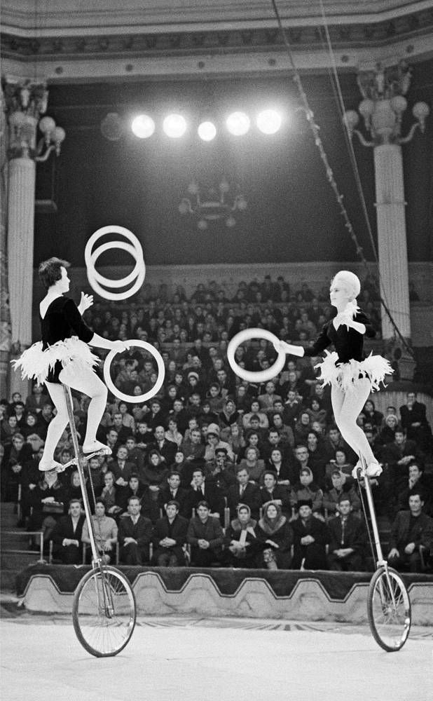 В цирке на Цветном бульваре во время представления, 1964 год