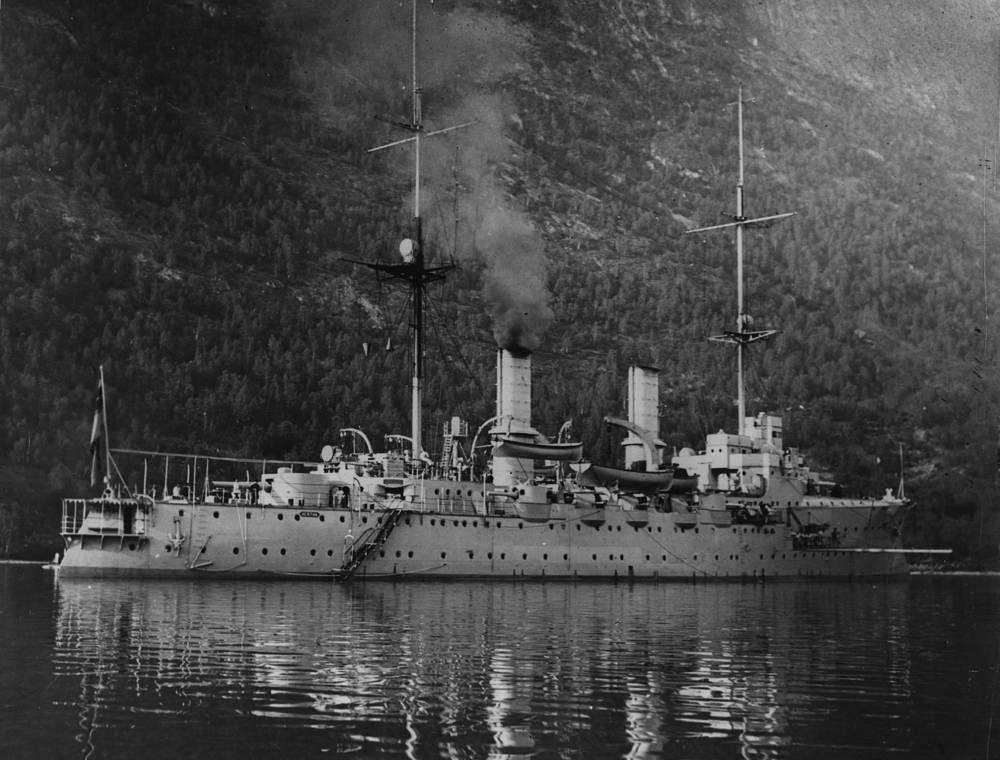 """Немецкий линкор """"Герта"""", его дизайн был сделан на основе Dreadnought. 1914 год"""