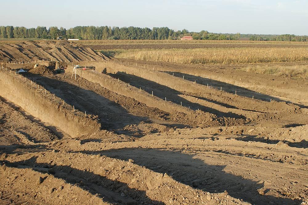Курган у станицы Кирпильской, где проводятся археологические раскопки