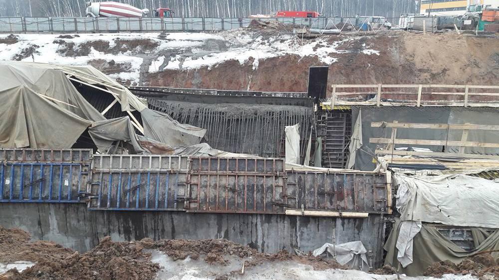 Обрушение тоннеля на Калужском шоссе