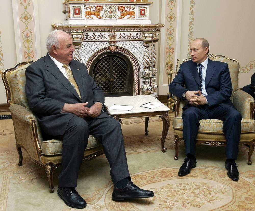 С президентом России Владимиром Путиным. Ново-Огарево, 2005 год