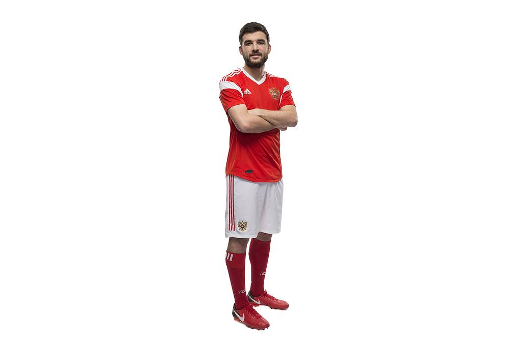 Георгий Джикия в форме сборной России на ЧМ-2018