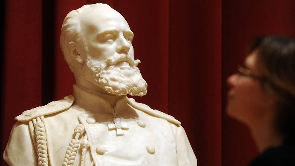 Бюст императора Александра III работы Энрико Браги