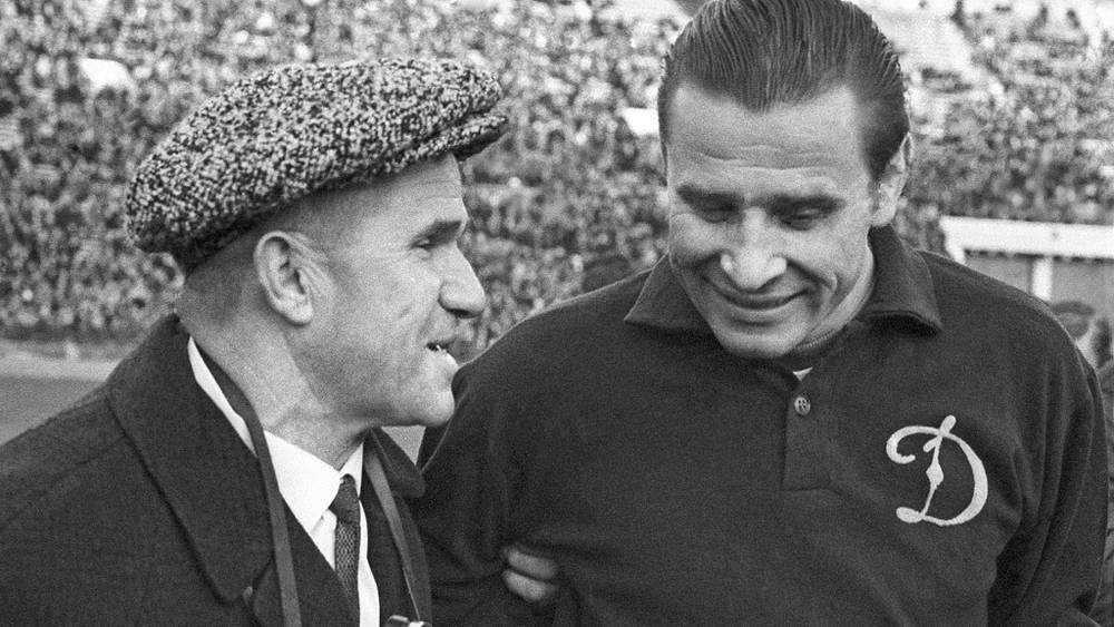 Вратари Лев Яшин и Алексей Хомич, 1970 год