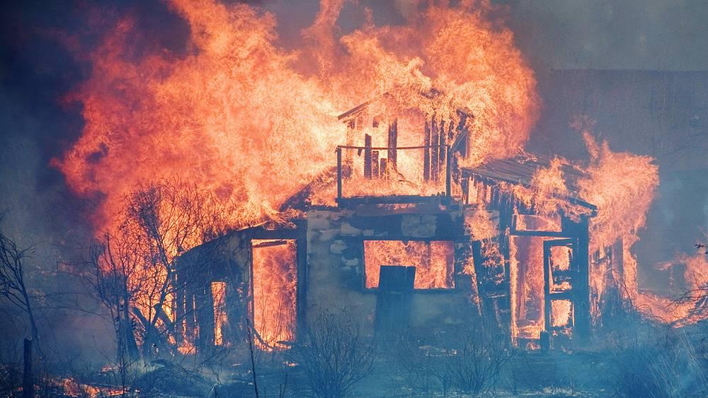 Пожар в дачном кооперативе