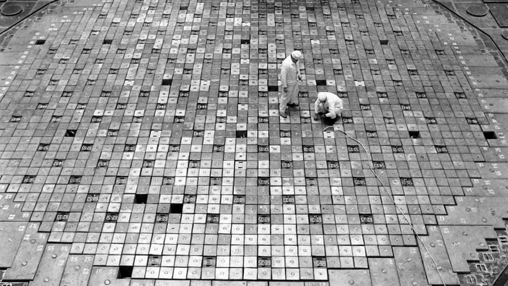 Украинская ССР. Чернобыльская АЭС. В центральном зале станции 1985 г