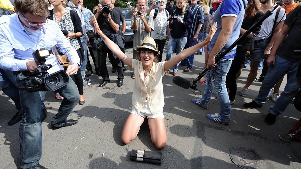 Акция в поддержку Pussy Riot в Москве