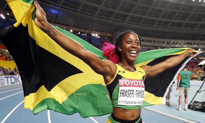 Шелли-Энн Фрейзер-Прайс победила в беге на 100 метров у женщин