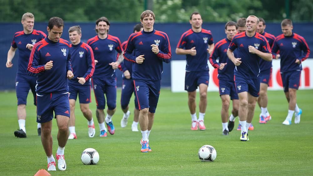 Тренировка сборной России по футболу на Евро-2012 в Польше