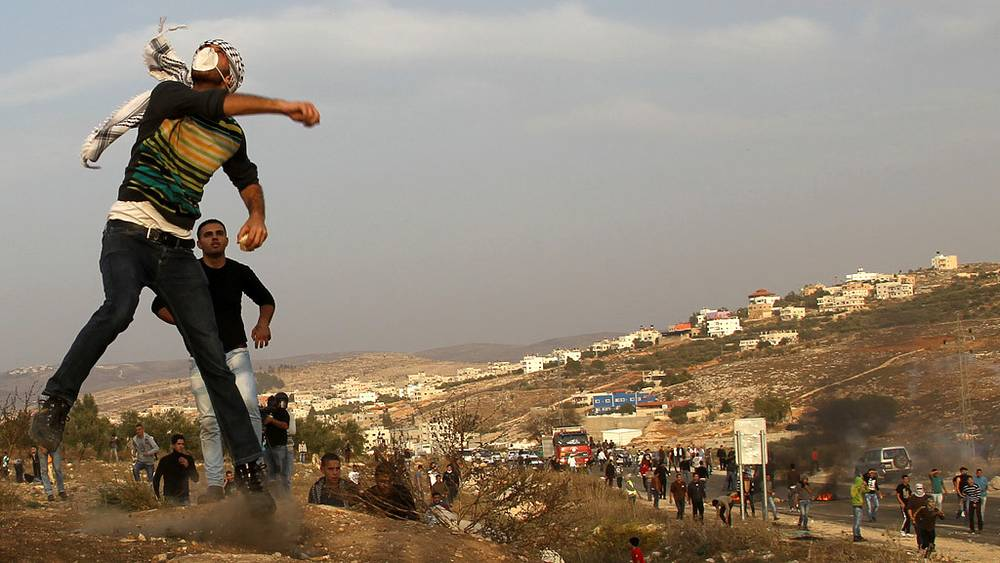 Акция протеста палестинцев