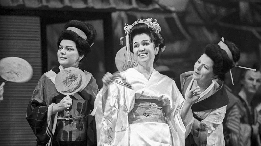 В роли Чио-чио-сан. 1966 год
