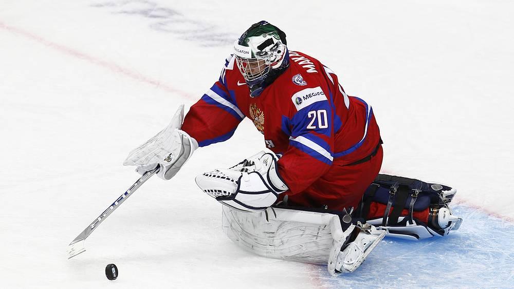 Вратарь России Андрей Макаров