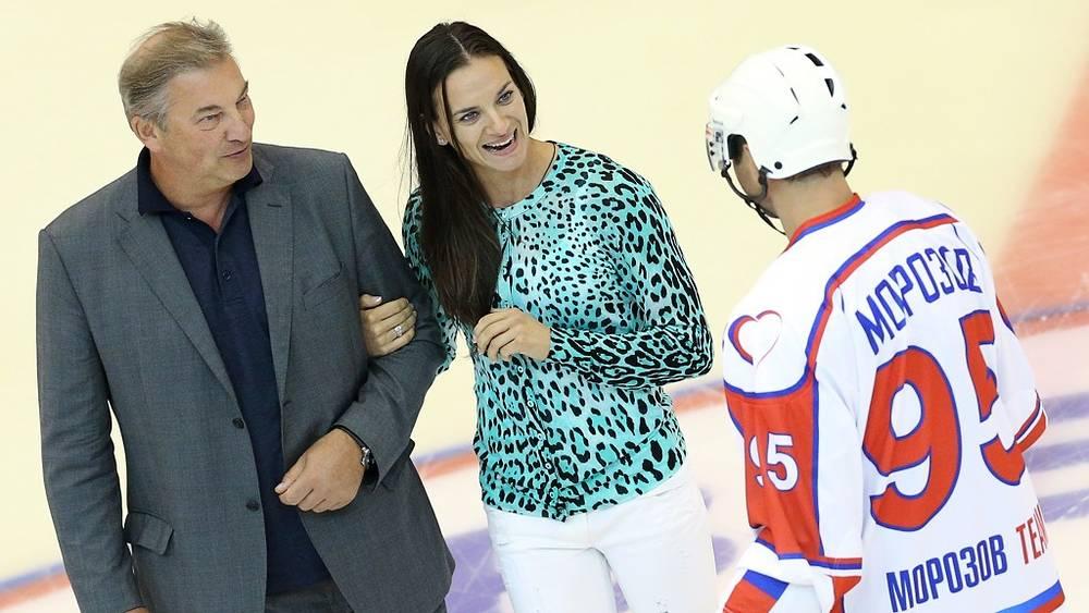 Президент ФХР Владислав Третьяк, Елена Исинбаева, Алексей Морозов