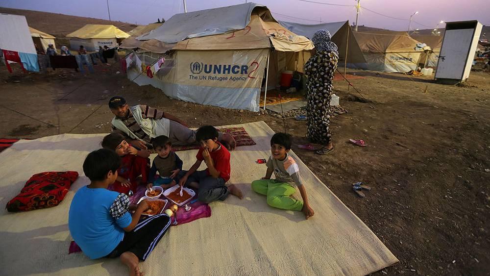 Лагерь сирийских беженцев близ города Эрбиль, Ирак