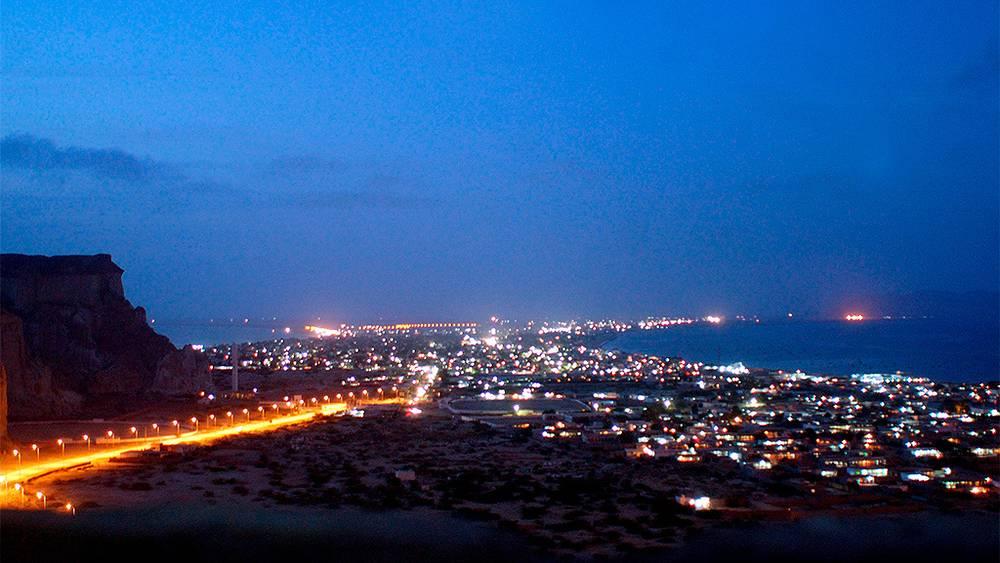 Вид на город Гвадар. Архив. Фото EPA/NADEEM KHAWER