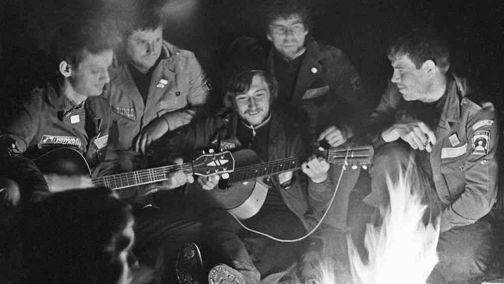 У отрядного костра. 1978 год. Фото ИТАР-ТАСС/ Игорь Сабадаш
