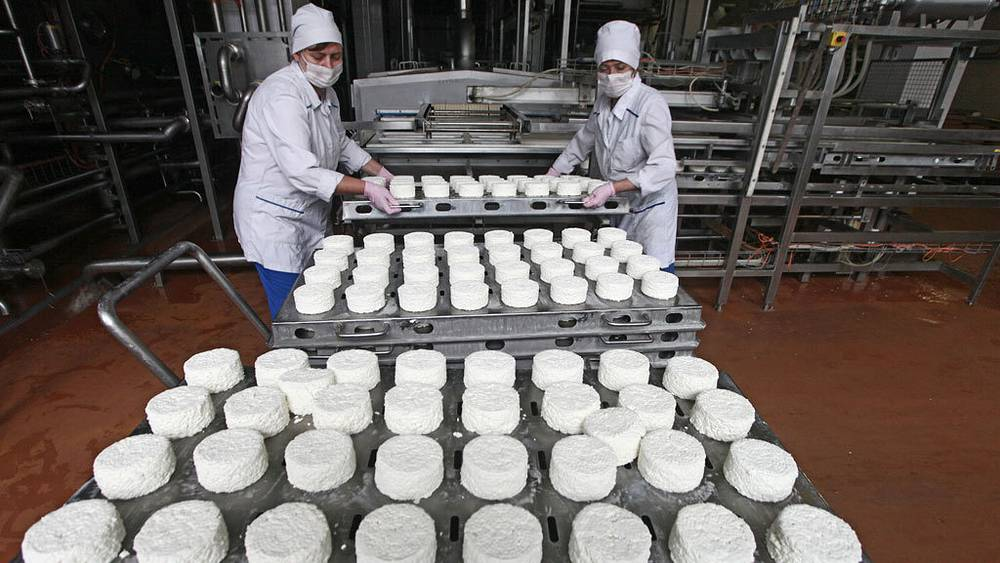 Литовская молочная продукция. Фото ИТАР-ТАСС/ Вадим Рымаков