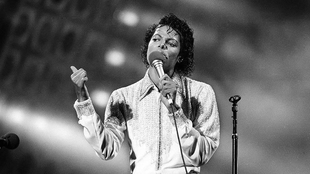 Майкл Джексон во время концерта в Нью-Джерси, 1984 г.