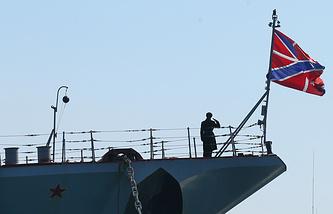 Missile cruiser Moskva of the Russian Black Sea Fleet (archive)