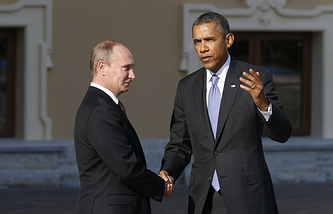 Президент РФ Владимир Путин и президент США Барак Обама
