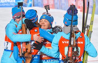 Екатерина Шумилова, Ольга Подчуфарова , Екатерина Юрлова и Анастасия Загоруйко