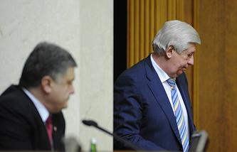 Президент Украины Петр Порошенко и генпрокурор Украины Виктор Шокин