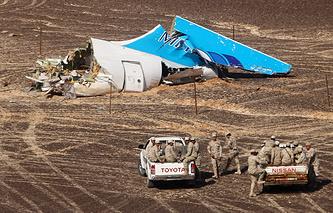 Место крушения российского самолета Airbus A321