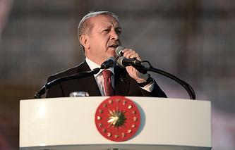 Il presidente Recep Tayyip Erdogan della Turchia