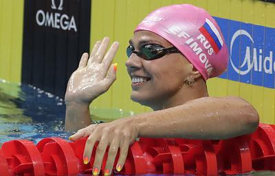 Ефимова заявила, что ее смешат разговоры о противостоянии с американкой Кинг