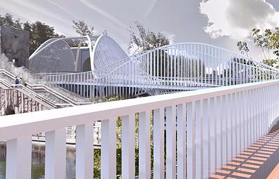 Пешеходный футуристический мост-волна соединит две территории Московского зоопарка