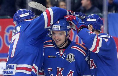 """СКА одержал пятую победу подряд в КХЛ, обыграв """"Югру"""""""