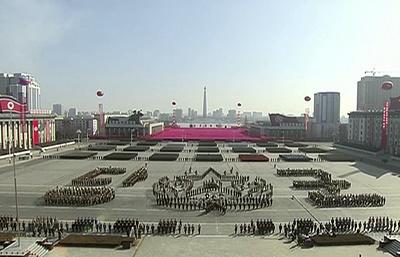 КНДР показала на параде межконтинентальную баллистическую ракету нового типа «Хвасон-15»