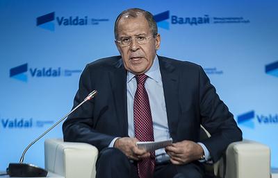 """Лавров и Зариф выступают на конференции """"Валдая"""" по Ближнему Востоку. Видеотрансляция"""
