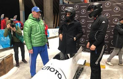 Посол ЧМ-2018 Нуну Гомеш посетил чемпионат России по бобслею и совершил спуск в бобе