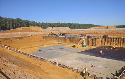 В Подмосковье начали заливать фундамент первого мусоросжигательного завода
