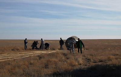 """Источник: повреждение ракеты """"Союз-ФГ"""" на космодроме Байконур перед запуском маловероятно"""