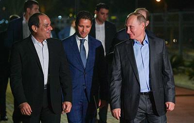 Путин и ас-Сиси прогулялись по набережной в Сочи и пообщались с отдыхающими