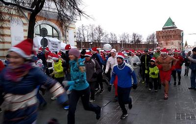 В Нижнем Новгороде состоялся 2019-метровый новогодний забег