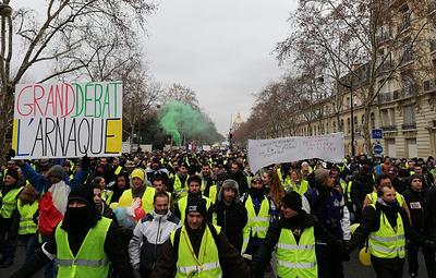 """В Париже начался марш """"желтых жилетов"""""""