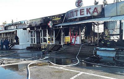Пожар на рынке в Нальчике потушен